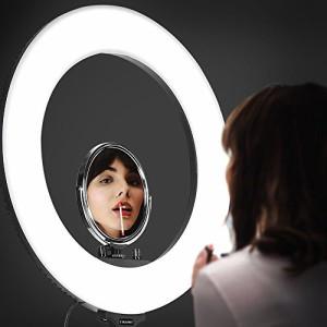 CRAPHY 18'' 外/12.5'' 内 SMD LED ビデオリングライト 40W 二色 丸型 カメラスマートフォンYoutubeビデオ撮影ライブビデオ自撮り用 3200