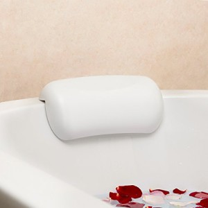 Fypo お風呂 まくら バスピロー 吸盤 滑り止め付 バスタブ 浴槽 リラックス 安眠 正規品保証 ホワイト