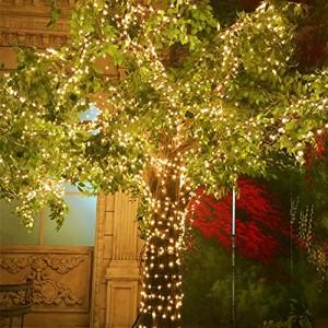 MORECOO イルミネーション ライト ソーラー 充電式 15メートル 150 LED電球 ジュエリーライト パーティー 結婚式 飾り 正月 バレンタイン