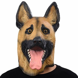 """""""ドイツ牧羊犬マスク アニマルマスク、パーティーマスク ラテックスマスク、犬マスク動物マスク、ハロウィーンのマスク 天然ゴムラテック"""""""