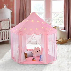DBROSE 子供用テント キッズテント  Kids Tent 女の子テント  折りたたみ 子供部屋 遊び小屋 お誕生日 クリスマスプレゼント