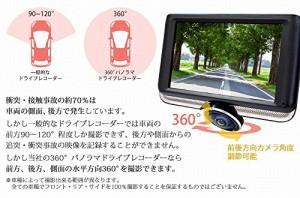 ドライブレコーダー360度 ドラレコ SDカード16GB付 すぐ使える 駐車監視 簡単取付 交通事故 証拠画像 トラブル 衝突 J450-SD