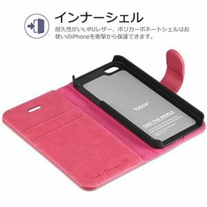 iPhone SE ケース / iPhone 5s ケース / iPhone 5 ケース [TUCCH] PUレザー 手帳型 ケース / マグネット式 カード収納 スタンド機能付き