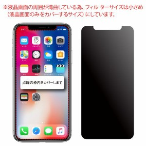 ASDEC アスデック iPhone X のぞき見防止フィルム ・360° 上下左右 4方向・映り込み防止 反射防止・指紋防止 防指紋・キズ防止・極薄0.3