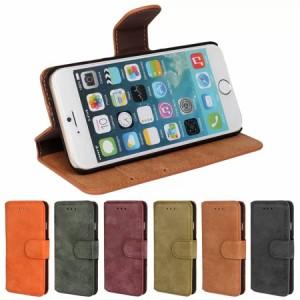 iPhone 7 レザーケース オレンジ 強化ガラス保護フィルム付き スマホケース  アイフォン7 iPhone 7 ケース 手帳 iPhone 7 ケース 財布
