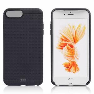 iPhone 8 Plus ソフトケース iPhone 7 Plus ソフトケース ブラック 強化ガラス保護フィルム付き アイフォン8 プラス / アイフォン7 プラ