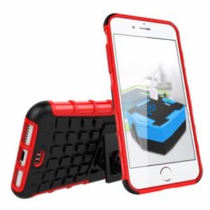 iPhone 7 Plus ハードケース レッド 強化ガラス保護フィルム付き スマホケース  アイフォン7 プラス