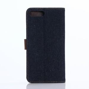 iPhone 7 Plus レザーケース ブラックブルー 強化ガラス保護フィルム付き スマホケース  アイフォン7 プラス iPhone 7 Plus ケース 手帳
