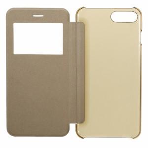 iPhone 7 Plus レザーケース ゴールド 強化ガラス保護フィルム付き スマホケース  アイフォン7 プラス iPhone 7 Plus ケース 手帳 iPhone