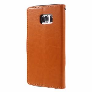 Galaxy S7 edge レザーケース オレンジ 液晶保護フィルム付き スマホケース  ギャラクシーS7エッジ Galaxy S7 edge ケース 手帳 Galaxy S