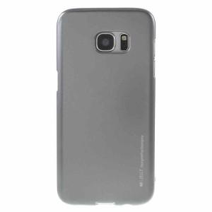 Galaxy S7 edge ソフトケース グレー 液晶保護フィルム付き スマホケース  ギャラクシーS7エッジ