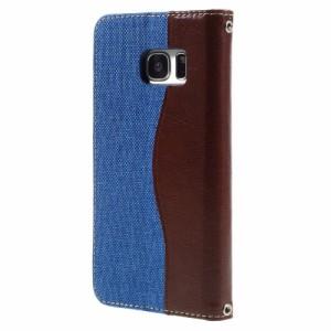 Galaxy S7 edge レザーケース ベイビーブルー 液晶保護フィルム付き スマホケース  ギャラクシーS7エッジ Galaxy S7 edge ケース 手帳 Ga