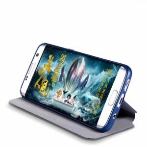 Galaxy S7 edge レザーケース ローズゴールド 液晶保護フィルム付き スマホケース  ギャラクシーS7エッジ Galaxy S7 edge ケース 手帳 Ga