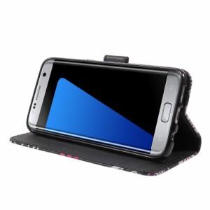 Galaxy S7 edge レザーケース D 液晶保護フィルム付き スマホケース  ギャラクシーS7エッジ Galaxy S7 edge ケース 手帳 Galaxy S7 edge