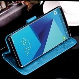 Galaxy S8 Plus レザーケース ブルー 液晶保護フィルム付き スマホケース  ギャラクシーS8 プラス カバー 手帳型スタンド機能 ICカードス