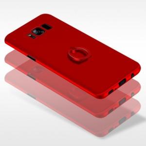 Galaxy S8 ハードケース ローズゴールド 液晶保護フィルム付き スマホケース  ギャラクシーS8 背面型スタンド機能 ICカードスロット