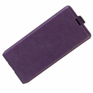 Galaxy S8 レザーケース パープル 液晶保護フィルム付き ギャラクシーS8 カバー 手帳型ICカードスロット