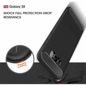 Galaxy S8 ハードケース レッド 液晶保護フィルム付き スマホケース  ギャラクシーS8 背面型耐衝撃 超薄軽量型
