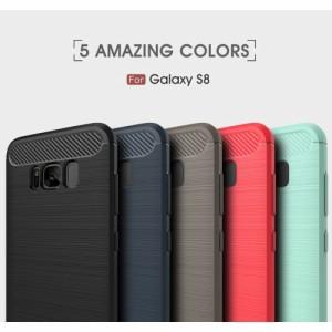 Galaxy S8 ハードケース レッド 液晶保護フィルム付き ギャラクシーS8 背面型耐衝撃 超薄軽量型