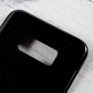 Galaxy S8 ハードケース ブラック 液晶保護フィルム付き ギャラクシーS8 背面型耐衝撃 超薄軽量型