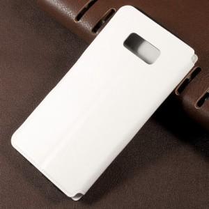 Galaxy S8 Plus レザーケース ホワイト 液晶保護フィルム付き スマホケース  ギャラクシーS8 プラス カバー 手帳型スタンド機能 ICカード