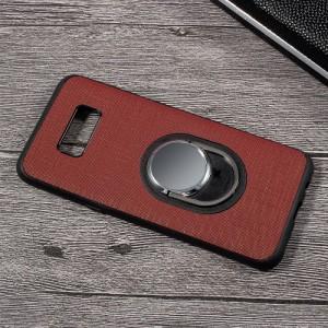 Galaxy S8 Plus ハードケース ワインレッド 液晶保護フィルム付き スマホケース  ギャラクシーS8 プラス 背面型スタンド機能