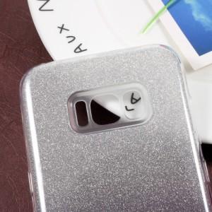 Galaxy S8 Plus ハードケース グレー 液晶保護フィルム付き ギャラクシーS8 プラス 背面型耐衝撃 超薄軽量
