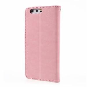 Huawei P10 レザーケース ピンク 強化ガラス保護フィルム付き スマホケース  ファーウェイ P10 カバー 手帳型スタンド機能 ICカードスロ