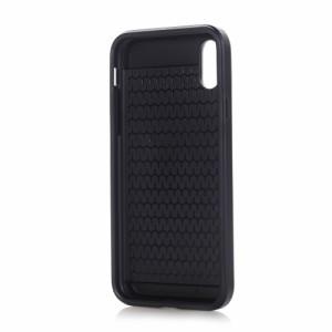 iPhone X ハードケース シアン 強化ガラス保護フィルム付き スマホケース  アイフォン X 背面型ICカードスロット