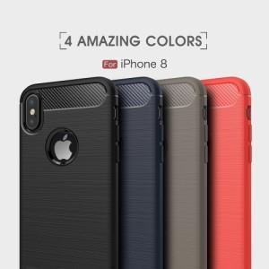 iPhone X ソフトケース レッド 強化ガラス保護フィルム付き アイフォン X 背面型超薄軽量