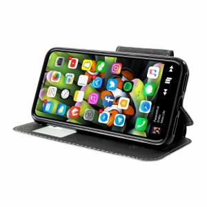 iPhone X レザーケース ホワイト 強化ガラス保護フィルム付き アイフォン X カバー 手帳型スタンド機能 ICカードスロット ウィンドウ