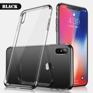 iPhone Xケース ブラック 強化ガラス保護フィルム付き スマホケース  アイフォン X 背面型超薄軽量