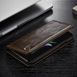 iPhone X レザーケース ブラウン 強化ガラス保護フィルム付き スマホケース  アイフォン X カバー 手帳型スタンド機能 ICカードスロット
