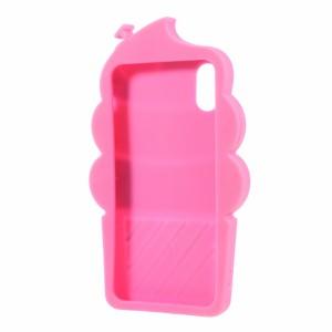 iPhone X ソフトケース ローズ 強化ガラス保護フィルム付き スマホケース  アイフォン X 背面型超薄軽量