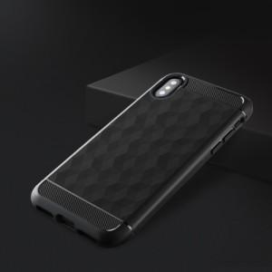 iPhone X ソフトケース ブラック 強化ガラス保護フィルム付き アイフォン X 背面型 超薄軽量