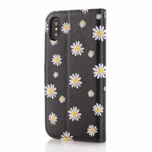 iPhone X レザーケース D 強化ガラス保護フィルム付き スマホケース  アイフォン X カバー 手帳型 スタンド機能 ICカードスロット 札入れ