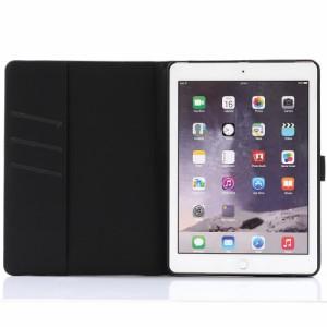 iPad 2017 レザーケース ブラウン 液晶保護フィルム付き アイパッド2017 カバー 手帳型 スタンド機能 ICカードスロット 札入れ