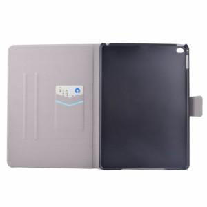 iPad 2017 レザーケース B 液晶保護フィルム付き アイパッド2017 カバー 手帳型 スタンド機能 ICカードスロット