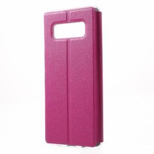 Galaxy Note 8 レザーケース ローズ 液晶保護フィルム付き スマホケース  SC-01K SCV37 ギャラクシーノート8 カバー 手帳型 ビューウィン