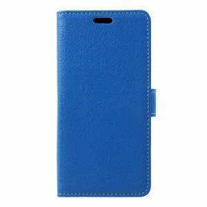Xperia XZ1 Compact SO-02K レザーケース ブルー 液晶保護フィルム付き エクスペリア XZ1コンパクト カバー 手帳型スタンド機能 ICカード