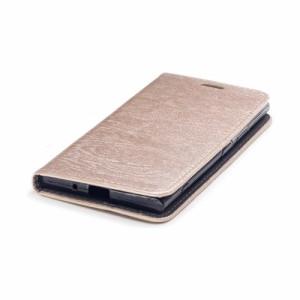 Xperia XZ1 SO-01K レザーケース ゴールド 液晶保護フィルム付き エクスペリア XZ1 カバー 手帳型スタンド機能 ICカードスロット 札入れ