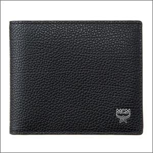 22276b954817 MCM エムシーエム MXS8SOT05BK001 メンズ 二つ折り財布 ブラック ワンポイント