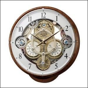 リズム時計 CITIZEN シチズン クロック 4MN515RH23 電波 掛時計 温湿度計 スモールワールドシーカー