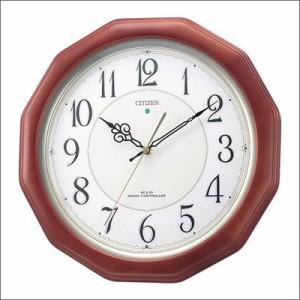 リズム時計 クロック 4MY655-006 電波掛け時計 ネムリーナピュアM655