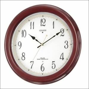 リズム時計 クロック 8MY445-006 電波掛け時計 ネムリーナM445