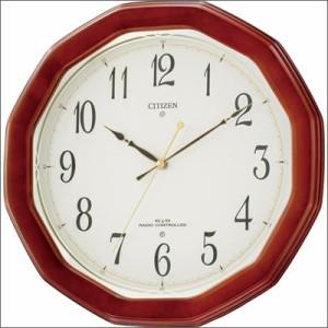 リズム時計 クロック 8MY446-006 電波掛け時計 ネムリーナM446
