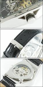 COGU コグ 腕時計 BS00T-BK メンズ 限定モデル 機械式 自動巻き 両面スケルトン