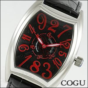 COGU コグ 腕時計 JH4-BBR メンズ 機械式 自動巻き クレイジーアワー ジャンピングアワー