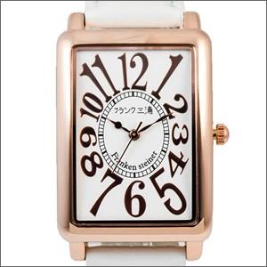 フランク三浦 腕時計 FM01K-WHRG ユニセックス 初号機(改) ローズホワイト クオーツ