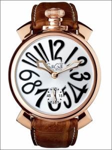 GaGa MILANO ガガミラノ 腕時計 5011.06S-BRW メンズ MANUALE マニュアーレ 48MM